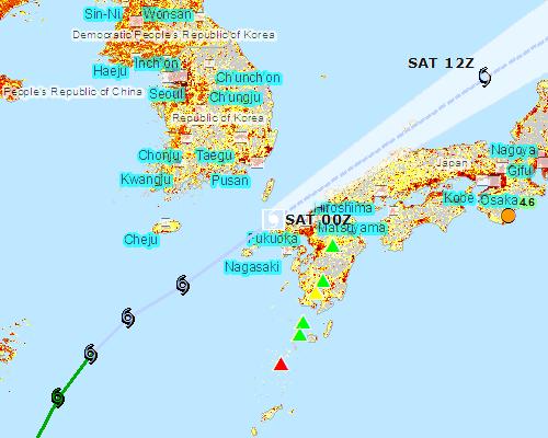PACIFIC DISASTER CENTER 台風進路
